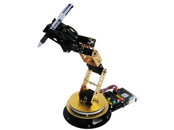 as-6dof 铝合金机械臂 6自由度 机械手 arduino实验教学平台 金色