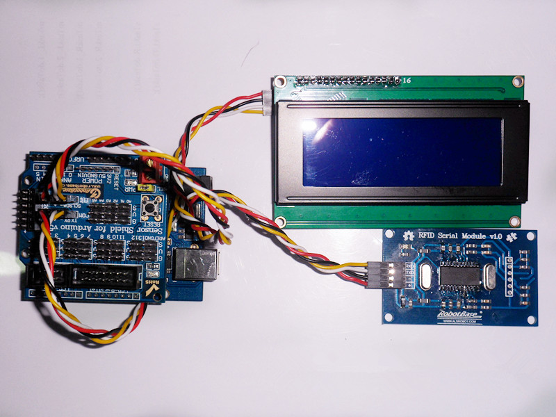 基于rfid模块与lcd2004液晶屏的arduino门禁显示器