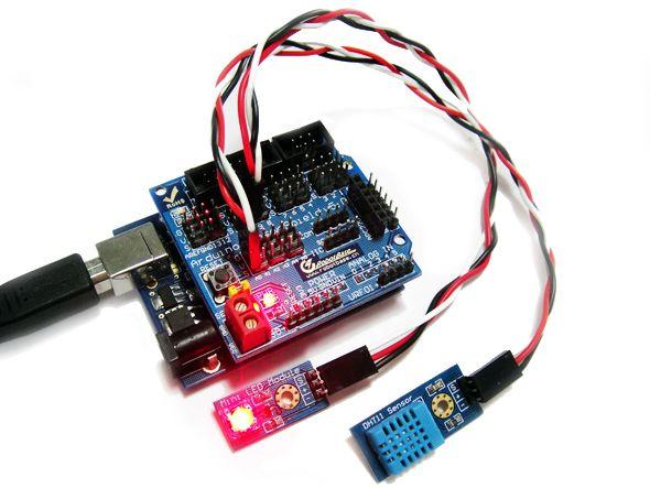 arduino dht11 温度传感器图片