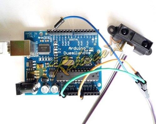 红外测距传感器arduio接线图