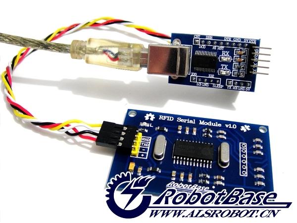RFID Serial Module(RFID串口通信读卡器)是哈尔滨奥松机器人科技有限公司新推出的一款简单易用、连接方便、性价比较高的串口RFID射频模块。RFID射频识别是一种非接触式的物体识别技术,它可以通过射频信号自动识别目标对象并获取相关数据,因此许多互动项目正是借用这一特性来实现对物体的识别的。可配合Arduino mega328、Arduino mega2560、Arduino UNO、Arduino Leonardo等控制器使用。