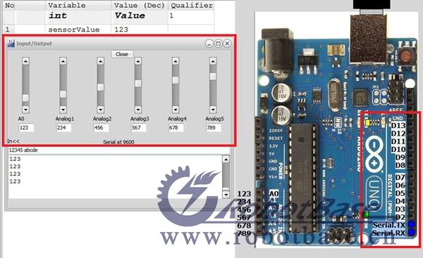 通过 arduino模拟器的这个功能,运行程序后你可以直接点击数字量端口