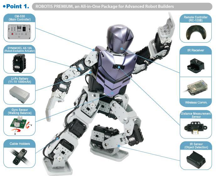 Bioloid Humanoid Robotis Kit 18自由度模块机器人 原装完整版