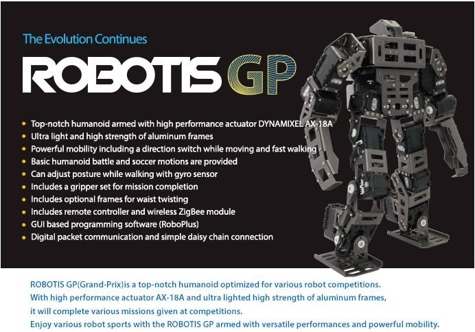 Bioloid GP高级套件 人形智能机器人 格斗比赛机器人ROBOTIS进口