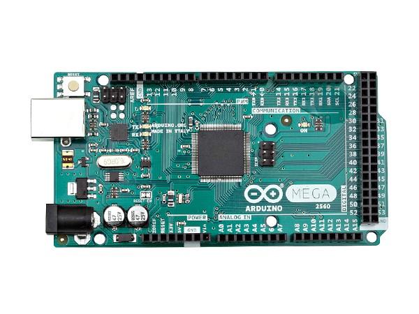 图4:Arduino Mega2560 Arduino Leonardo与上面的两款电路板有所不同,Arduino Leonardo是一款基于ATmega32u4(下载)的微控制器,因为ATmega32u4具有内置式USB通信,从而无需二级处理器。这样,除了虚拟(CDC)串行/通信端口,Arduino Leonardo还可以充当计算机的鼠标和键盘。它有20个数字输入/输出引脚(其中7个可用作PWM输出,12个可用作模拟输入)、1个16 MHz晶体振荡器、1个micro USB连接、1个电源插座、1个IC