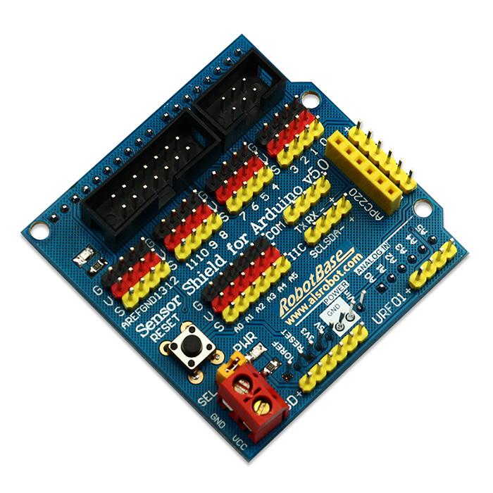 0可直接插接arduino uno控制器,并对接口进行扩展,连接传感器轻松加愉