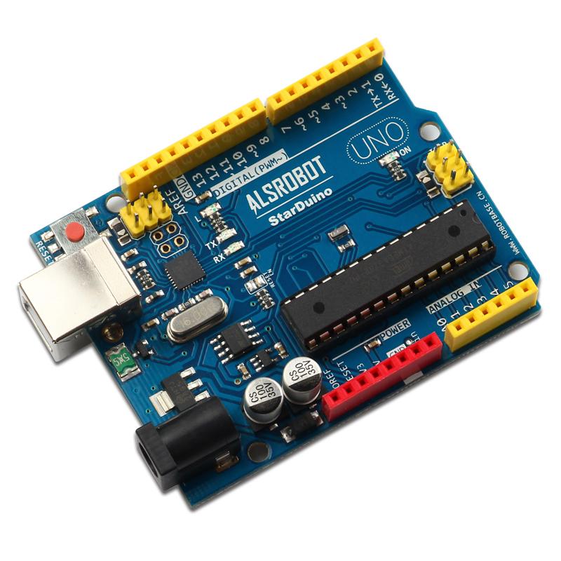 starduino uno r3 控制器可控制6wd小车的启动与运行