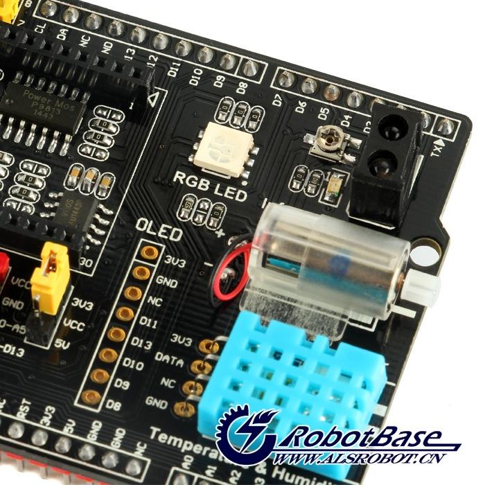 机智云开发板 Arduino UNO 传感器扩展板 GoKit智能硬件_机器人扩展板_机器人组件_哈尔滨奥松机器人科技股份有限公司-奥松机器人基地-RobotBase