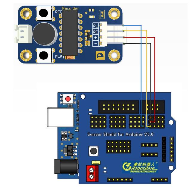 arduino 语音录音模块图片