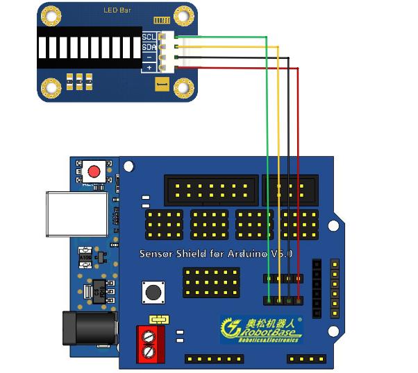 arduino 条形led模块 10段条状数码管 发光模块 梯度显示 短光条